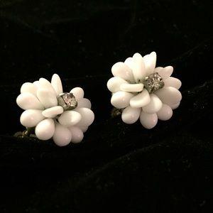 Gorgeous Vintage Milk Glass Earrings